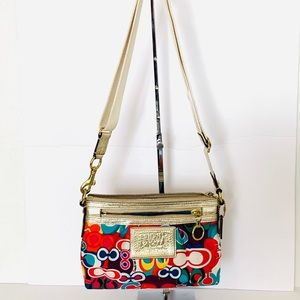 Coach Poppy Crossbody Bag Multi-Colored Sz S GUC